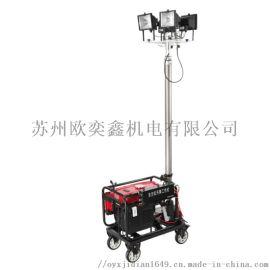 移动升降汽油发电机照明灯车4.5米遥控