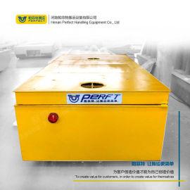 车间卷材垃圾转运 蓄电池轨道电动平板车