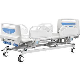 三功能手动升降医用护理病床 手动病床