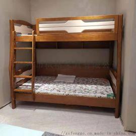 现代简约实木床 1.2米儿童床 1.5米上下床