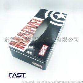 东莞厂家长方形包装铁盒 抽纸包装马口铁罐