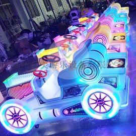 廣場公園景區隨意經營的兒童電動玩具車不局限場地