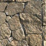 虎皮黄贴墙片石 仿古碎拼石 大型墙面工程 浆砌片石