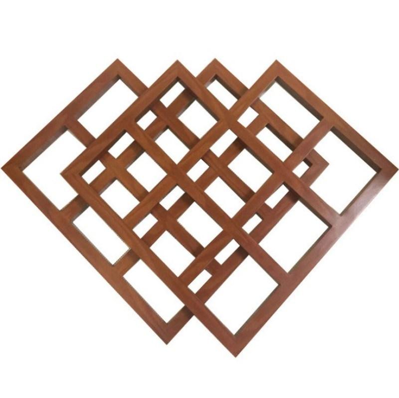 造型木纹铝窗花厂家定制铝屏风装饰材料幕墙雕刻铝板