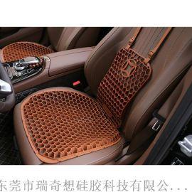 廠家汽車座墊用品矽膠護腰靠墊套裝四季通用的汽車坐套