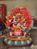 藏佛铜雕大型铸铜佛像雕塑铜佛像雕刻六臂玛哈嘎拉