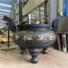 昌东工艺铸铁长方形平口香炉 寺院圆形平口香炉厂家
