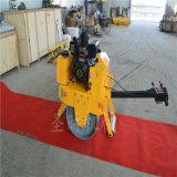 南京手扶式大单轮路面振动压实机厂家 小型农用压路机