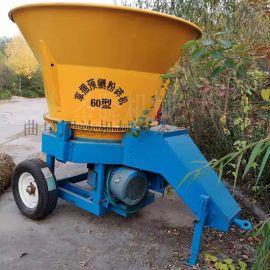 草捆式秸秆粉碎机 自动草捆粉碎机 圆盘式草捆破碎机