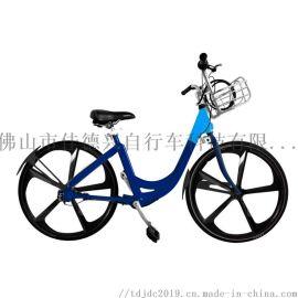 一体轮免充气内三速自行车 传动轴自行车 共享自行车