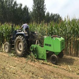 自动捡拾打捆机 小型玉米秸秆打包机