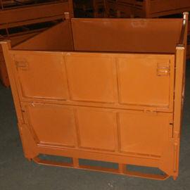 周转箱折叠式金属料箱可堆垛铁板仓储笼110D金属箱