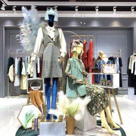 娅丽达品牌折扣女装一手货源 布衣平方专柜货源