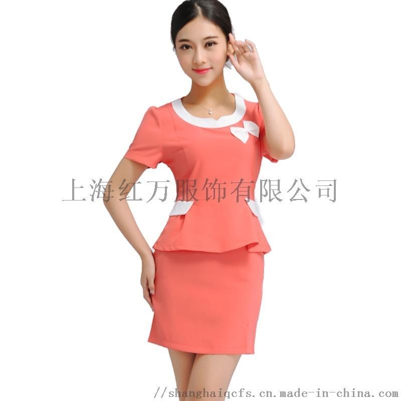 上海紅萬美容服 制服 工裝   服工作服定製