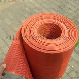鑫辰电力昌吉直销生产红色防滑10kv绝缘橡胶垫