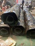幹灰散裝機帆布卸料耐磨鋼製溜筒帆布伸縮節