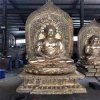 昌东工艺铜雕佛像厂家,铸铜三宝佛铸造生产厂家
