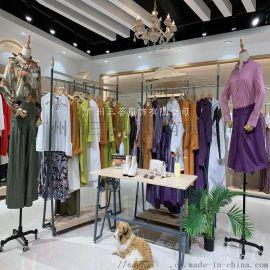 羽沙国际厂家过季三标齐全服装货源一线品牌女装走份