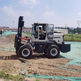 四驱3吨5吨多功能柴油座驾越野叉车 堆高液压搬运车