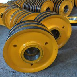 双梁起重机滑轮组  吊机滑轮  轧制滑轮片