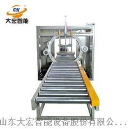 大宏建材管材型材全自动流水作业缠绕包装机