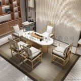 大理石茶桌椅组合简约现代新中式