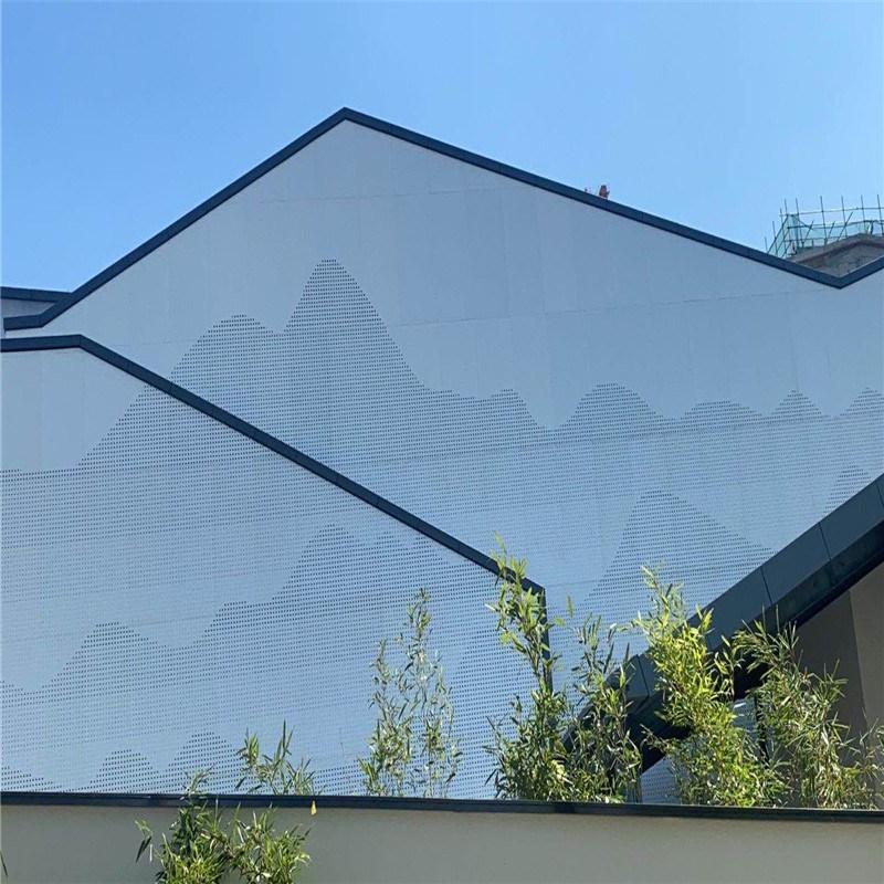 酒家外墙冲孔铝单板 烤漆外墙造型铝单板冲孔艺术