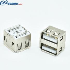 USB连接器 母座 双层直插 大电流