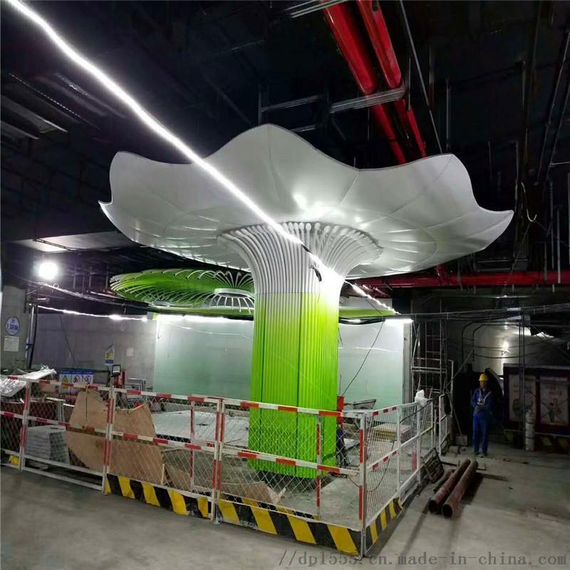 购物城大厅包柱铝单板 穿孔透光包柱铝单板效果案例