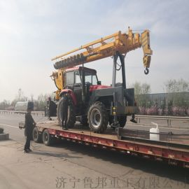 12吨拖拉机吊车 电线杆挖坑立杆一体机