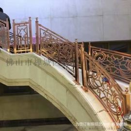 镀金铜艺楼梯扶手走出你的健康人生