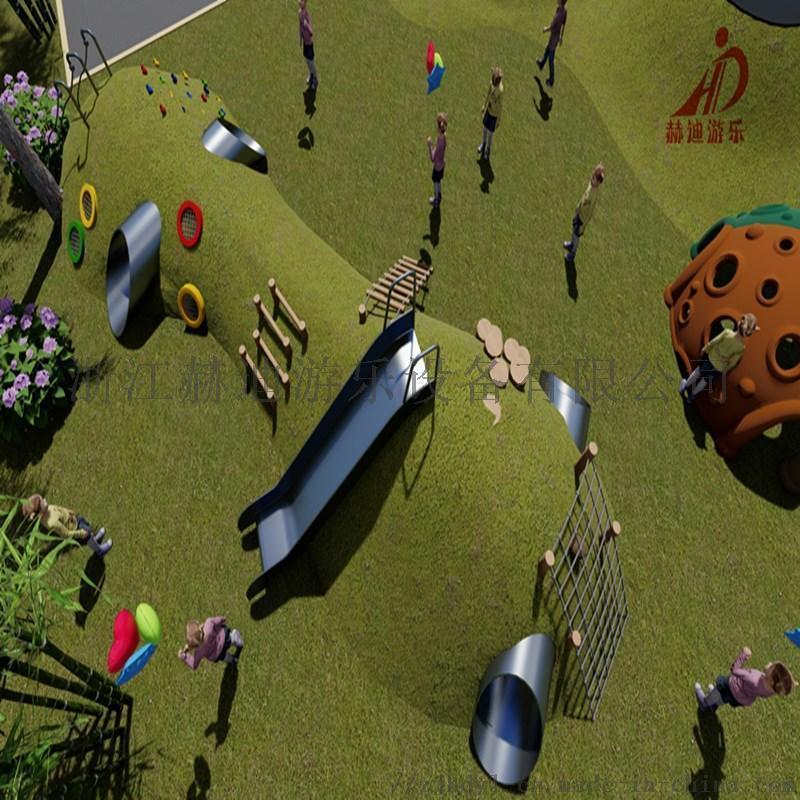 幼儿园滑滑梯 小区广场户外游乐设备 户外非标爬网