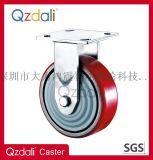 重型镀锌平面铁芯PU脚轮