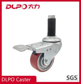 中型雙軸承鐵心pu耐磨腳輪