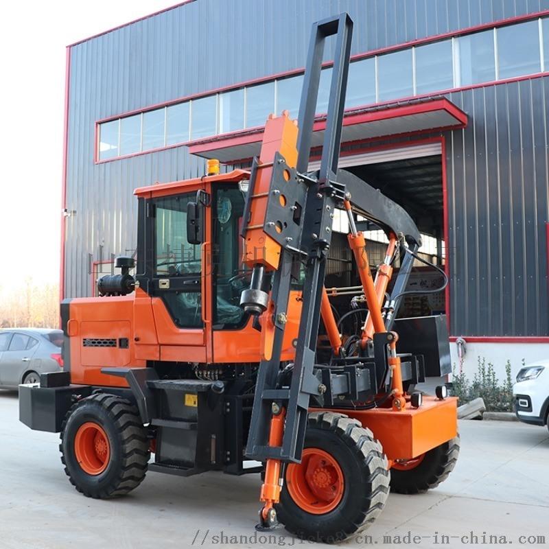 捷克護欄打樁機 公路護欄立樁機 裝載式護欄打樁機
