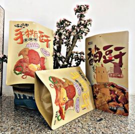 开窗牛皮纸袋休闲食品包装袋自立牛皮纸自封袋