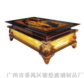 KTV茶几发光台不锈钢吧台钢化玻璃桌