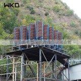 炉渣处理厂螺旋溜槽 砂金重选螺旋溜槽 玻璃钢溜槽