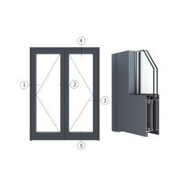 广东兴发铝材创高AL7024A|B系列内平开门