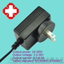 厂家供应12V 1.5A 医疗美规电源适配器