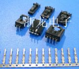 TJC8杜邦2.54带锁带扣弯针,2-10位,带锁胶壳