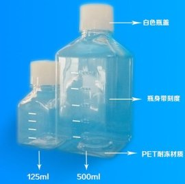WHB 125ml/500ml方形血清瓶/培養基瓶