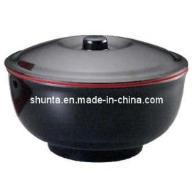 附盖牛肉面碗CC560S美耐皿红黑双色系列