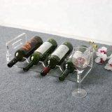 力驰定制酒瓶架子创意亚克力  展示架透明吧台葡萄酒酒架批发