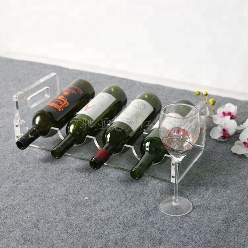 力驰定制酒瓶架子创意亚克力红酒展示架透明吧台葡萄酒酒架批发