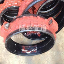 卡箍式柔性伸缩接头 卡箍橡胶软接头,丝扣橡胶接头