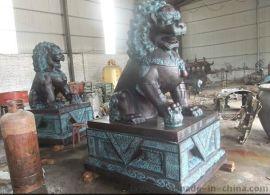 铜狮子雕塑,铸铜狮子,铜雕狮子