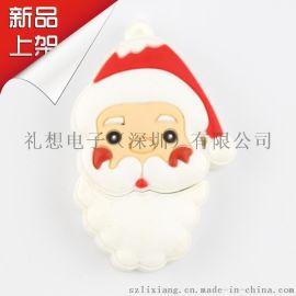 卡通USB3.0 平面U盘 圣诞节狂欢软胶U盘 广告促销节日礼品定制