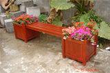 防腐木花箱定做广场花箱户外组合花箱公园座椅花箱