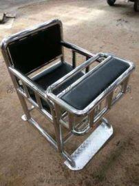 [鑫盾安防]棕黑色板钥匙型铁质审讯椅 圆管不锈钢审讯桌椅价格